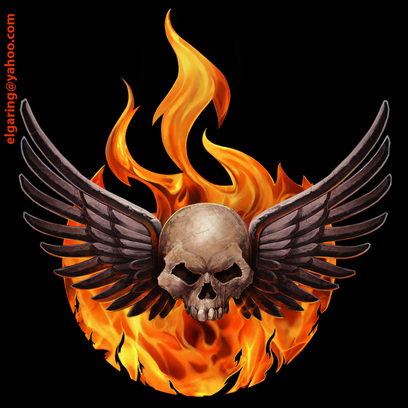 El wingsskull and fire by elshazam on deviantart el wingsskull and fire by elshazam voltagebd Images