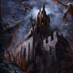 Evil Castle by elshazam