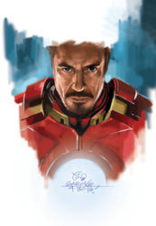 Tony Stark_Ironman by elshazam