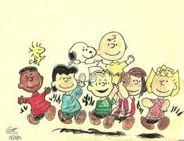 Peanuts Gang by Vamperin