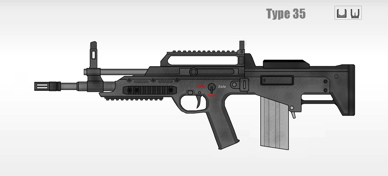 Type-35/ R35 Assault rifle by Artmarcus