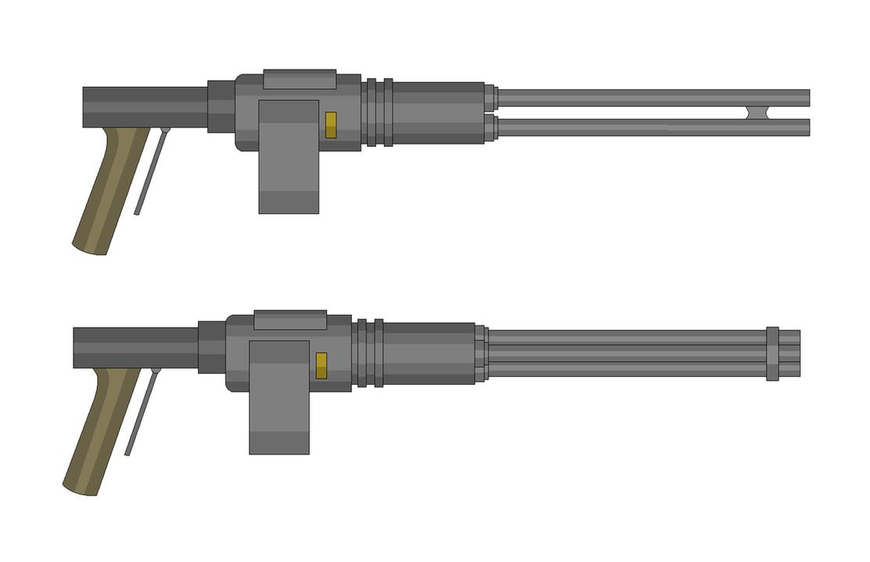 556 Crater Minigun by Artmarcus
