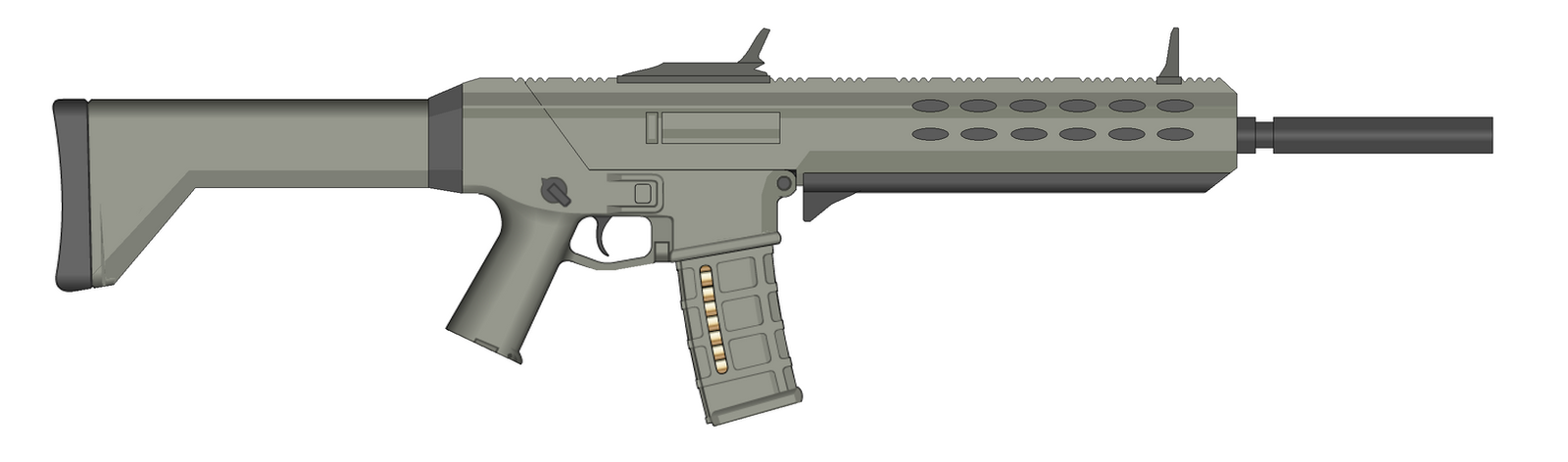 Simple Combat Rifle by Artmarcus