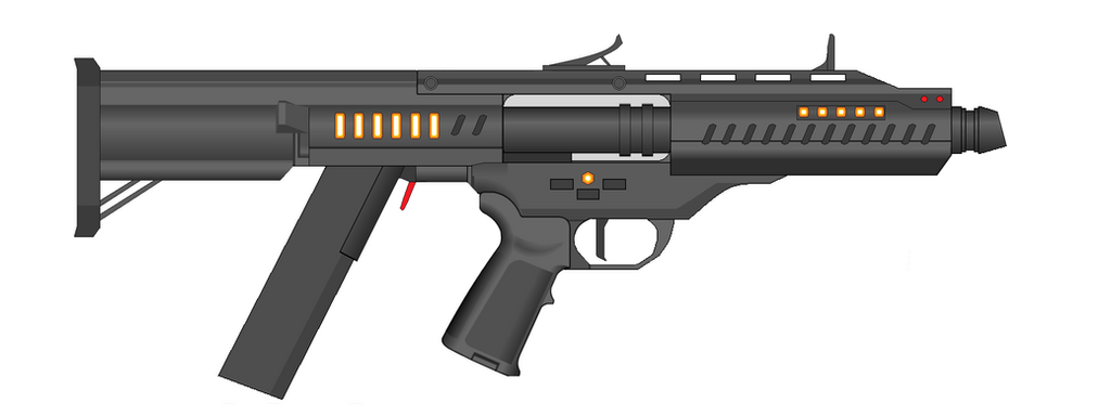 Vetnus Machine Gun Carbine energy version by Artmarcus