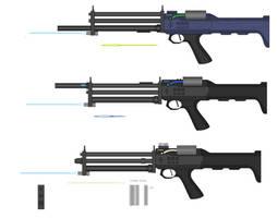 Triple Barrel Hybrid Rifle by Artmarcus