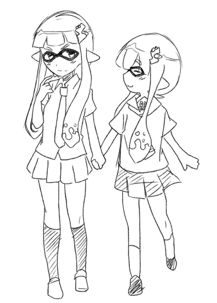 squid girlfriends by Roos-Vicee