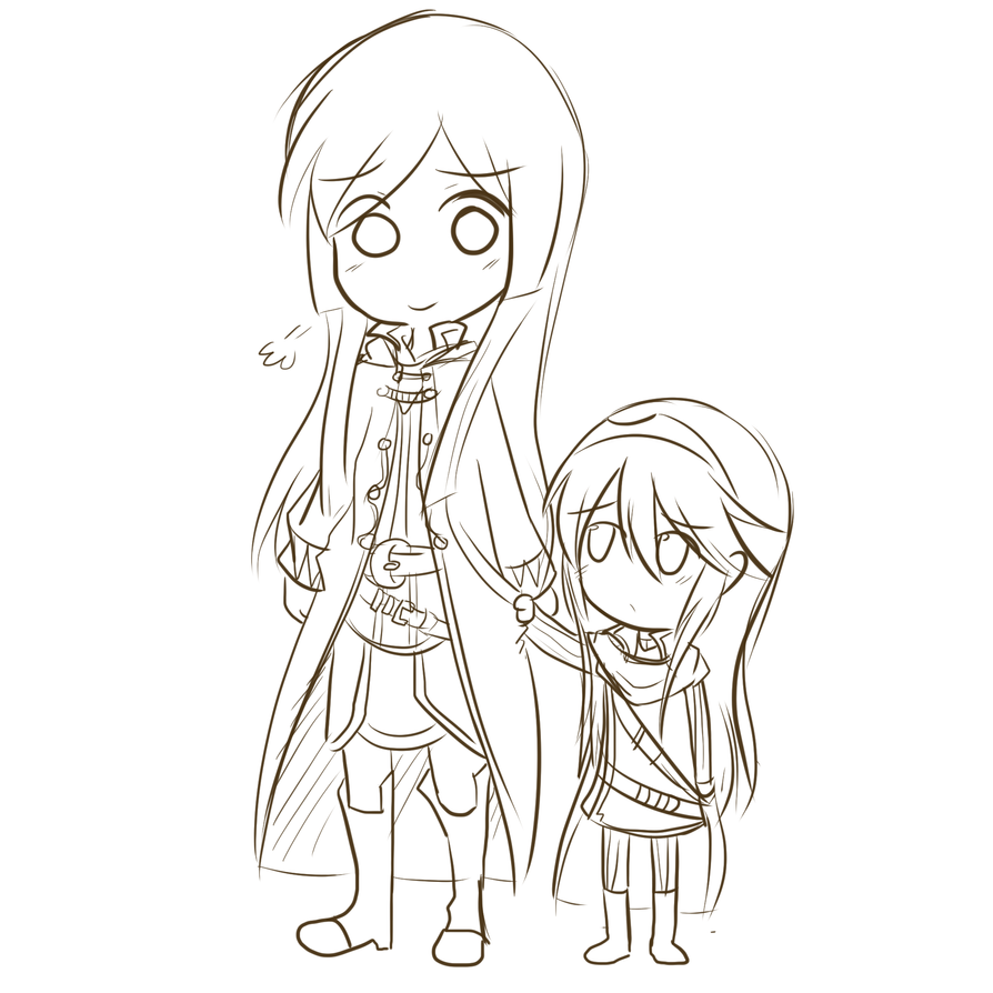 Robin and tiny Lucina by Roos-Vicee