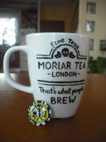 Moriartea mug and smiley face magnet by Xijalle