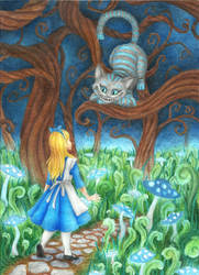 Every adventure requires a first step~Cheshire Cat by Xijalle