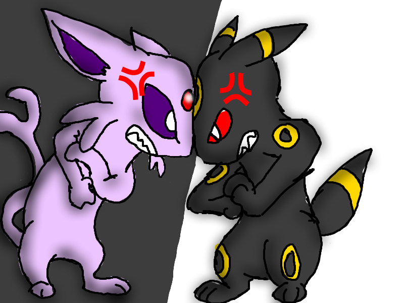 Espeon Vs. Umbreon by epoose on DeviantArt