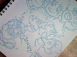 Ponyo Sketches~ by AnotherTryAtTrying