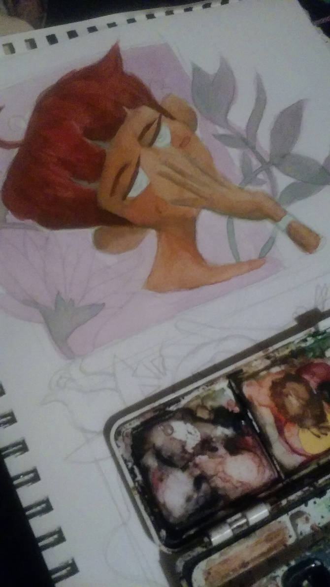He Has An Expressive Nature: Part 2 of Watercolor by AnotherTryAtTrying