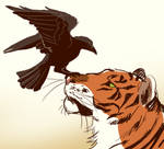 tiger and crow