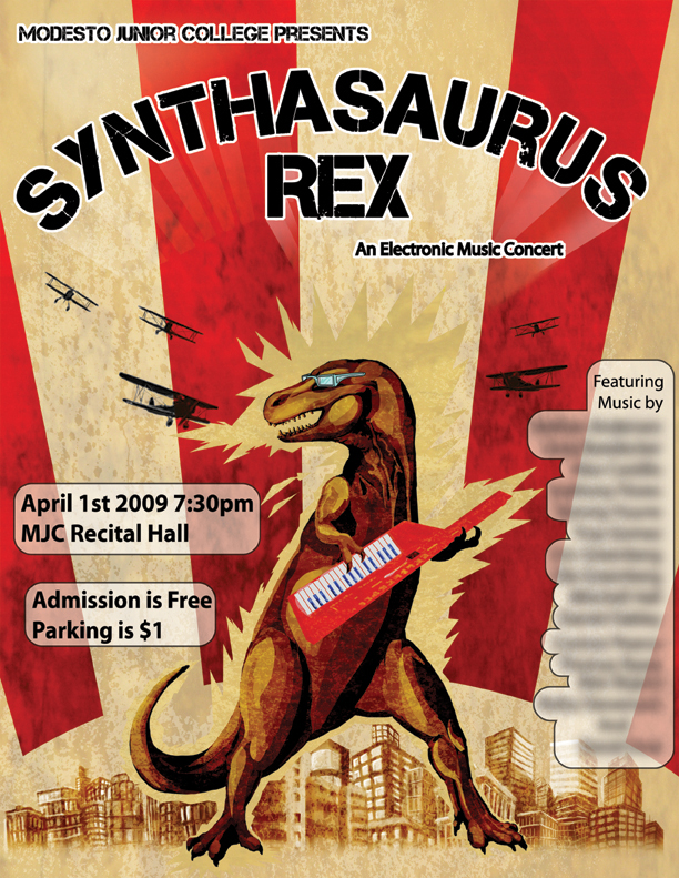 Synthasaurs Rex Poster by elderwyrm
