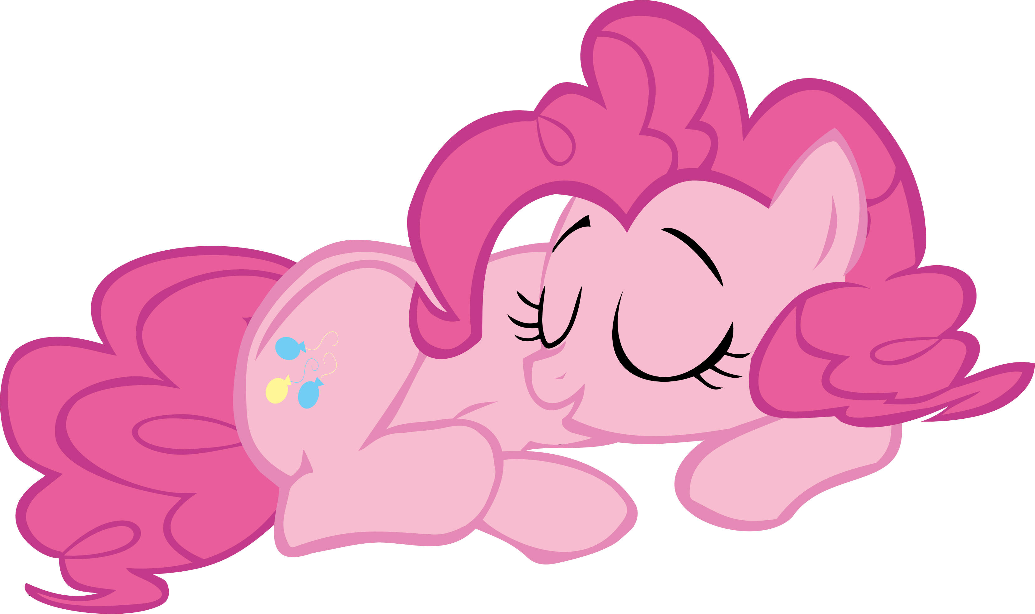 sleeping pinkie pie vector - photo #1