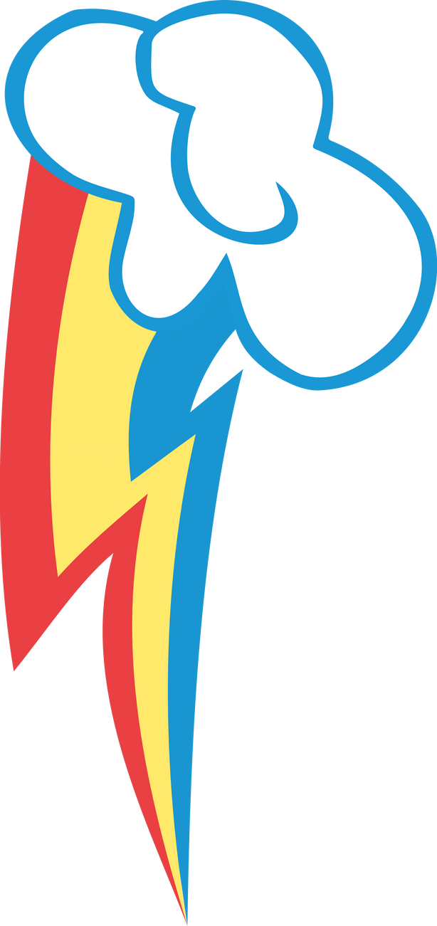 Rainbow Dash's Cutie Mark by NimbusThePoni on DeviantArt Rainbow Dash Cutie Mark Vector