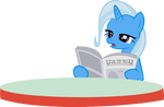 Trixie Reading the Paper