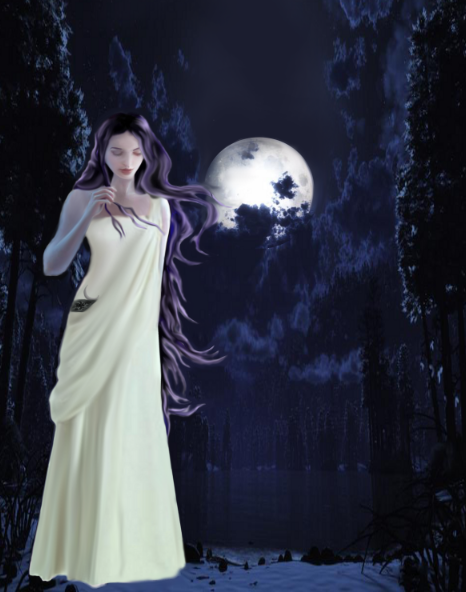 Diosa Selene/ Selene Goddess by Keyra007 on deviantART