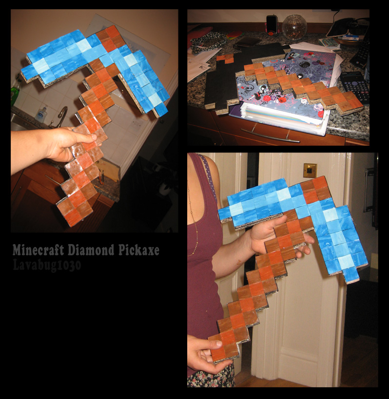 minecraft how to make a diamond pickaxe