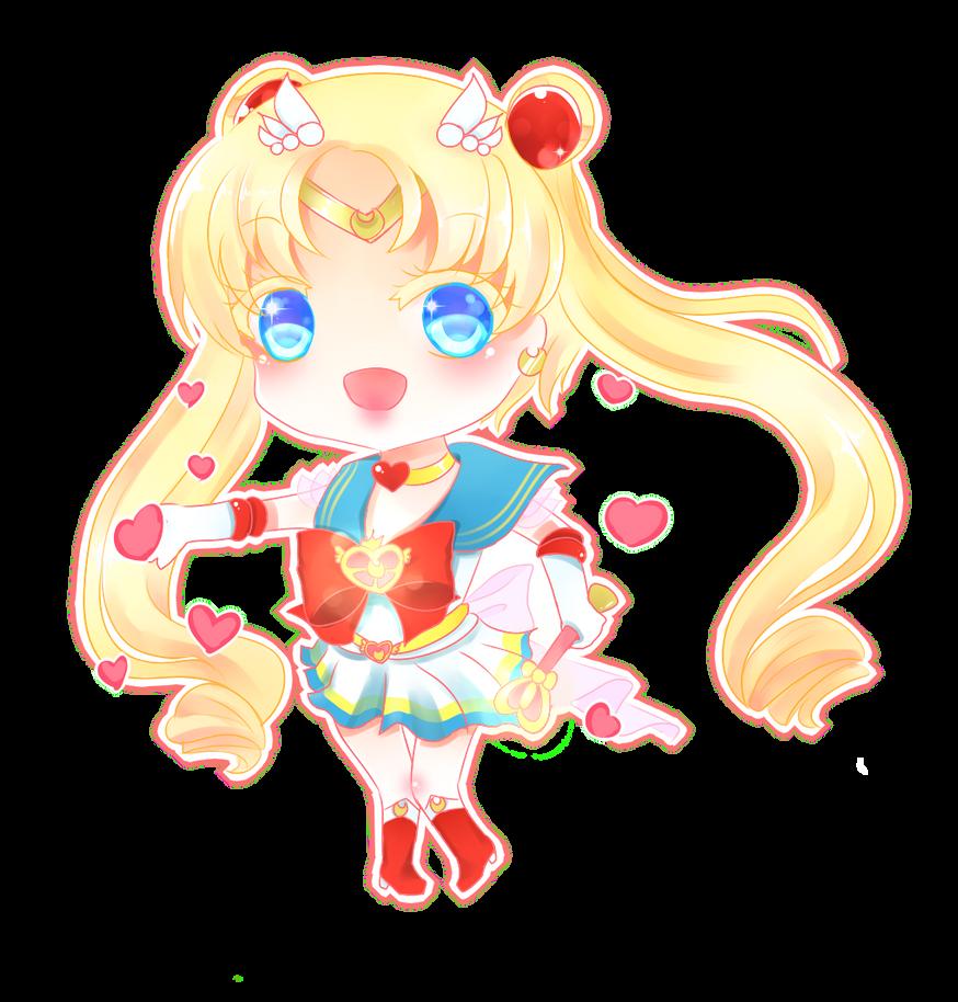 Chibi-Super Sailor Moon by HotaruAyanami