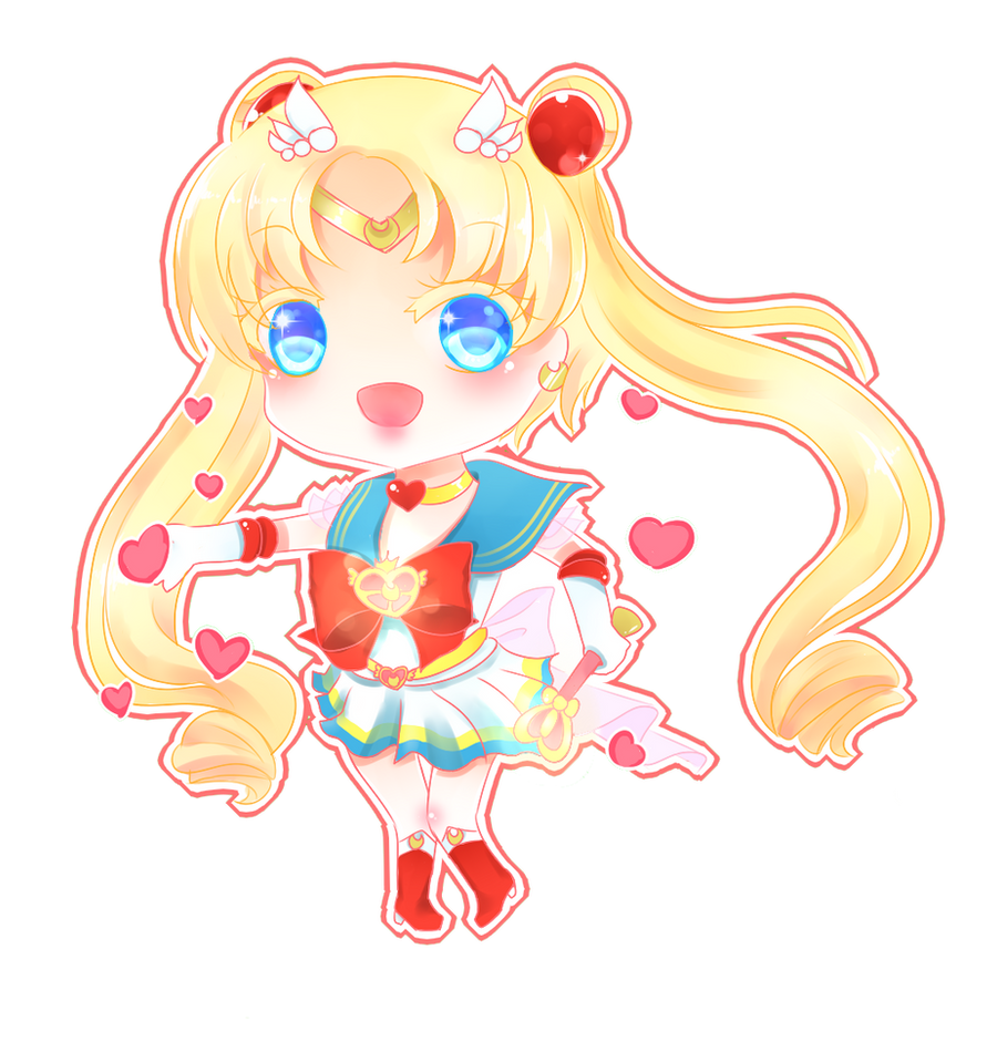 Chibi-Super Sailor Moon by HotaruAyanami