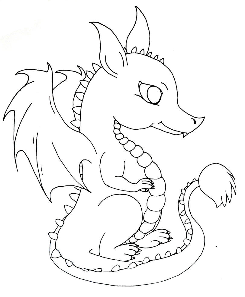 how to draw a cute baby cartoon dragon good cute images