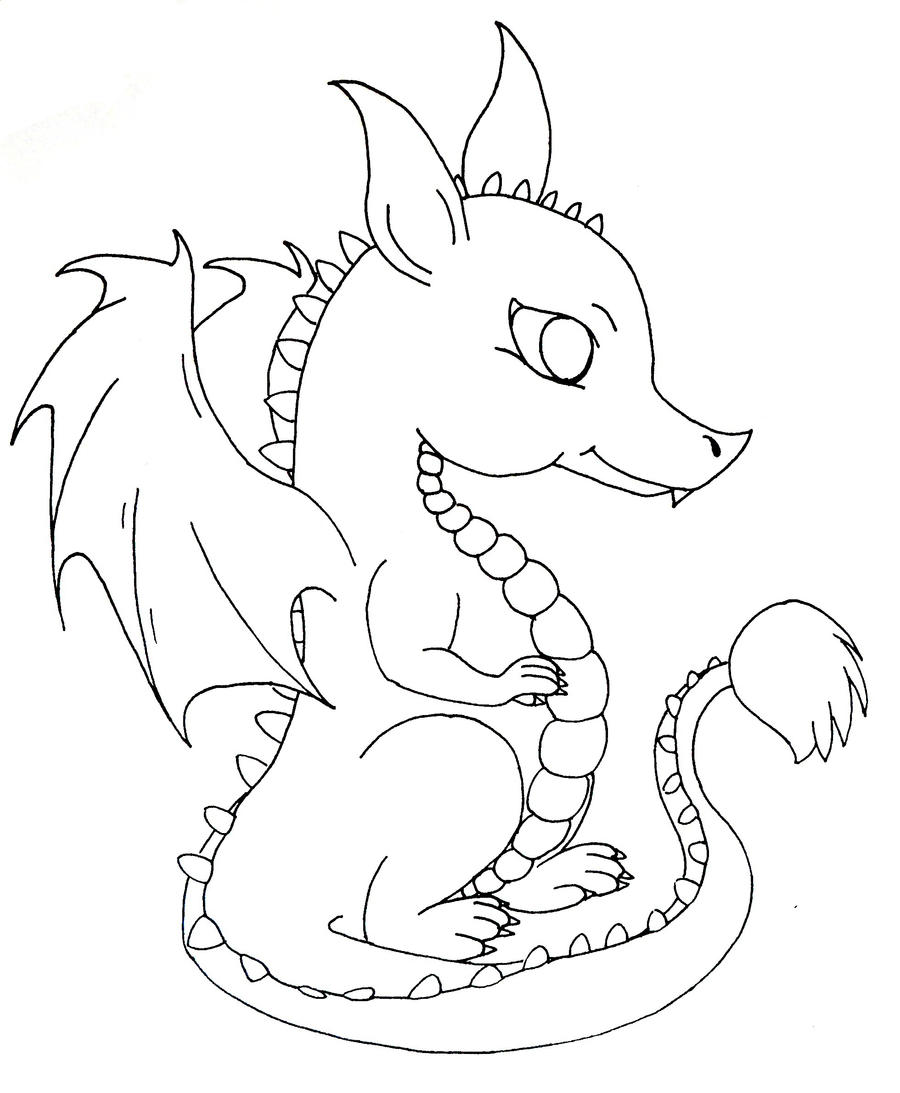 baby dragon cartoon coloring pages | Baby dragon by kay-ler on DeviantArt