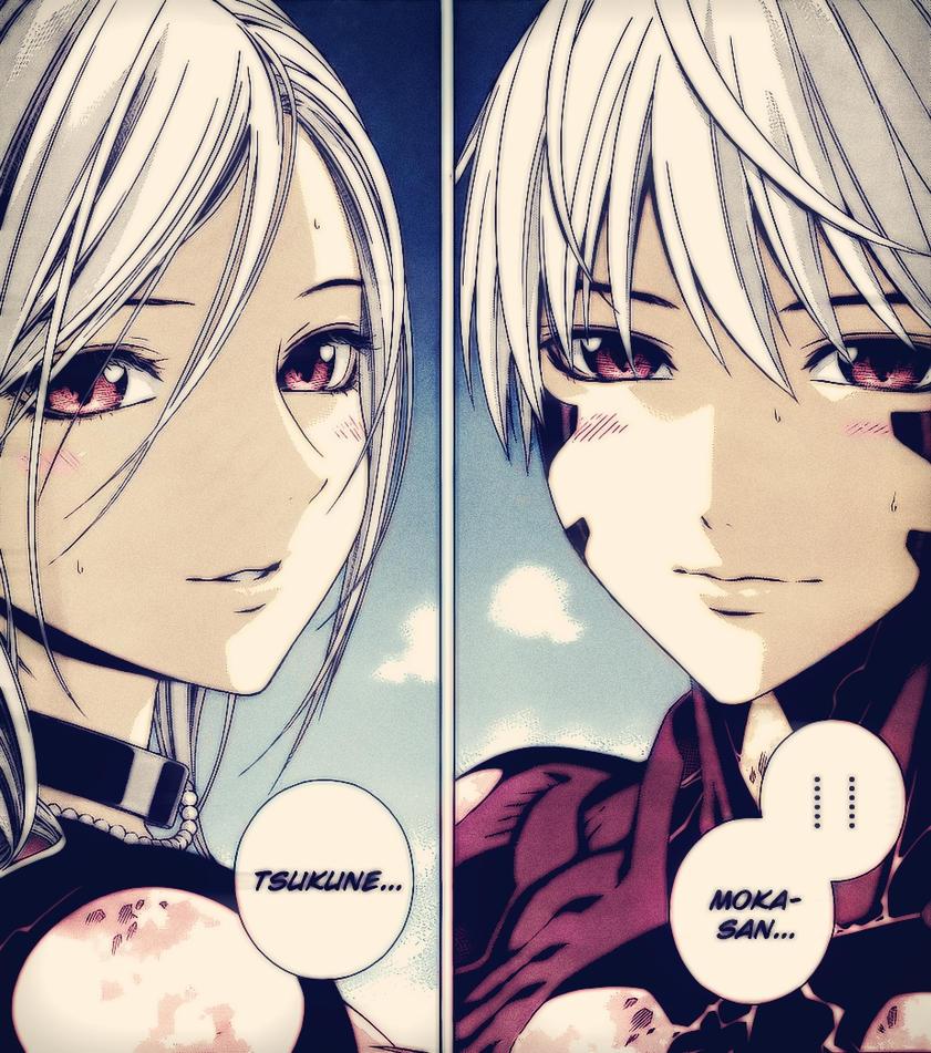 Read Manga Online Rosario Vampire: Tsukune And Moka Color By