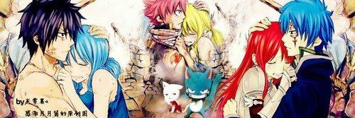 Fairy Tail Chibi (NaLu, JeRza and GrUvia) by LucyConejita ...