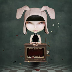 Girl and TV