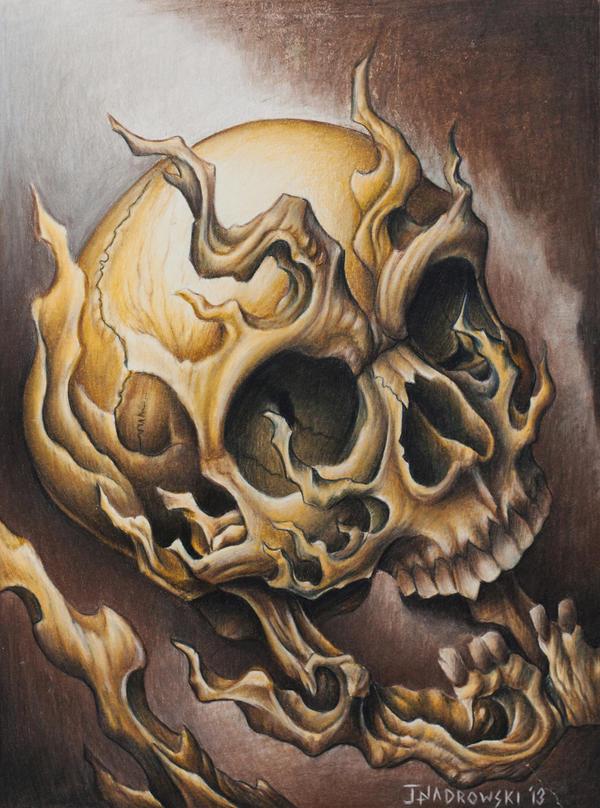 Weird Skull by JakubNadrowski