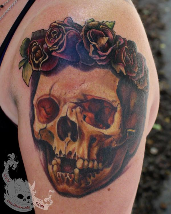 Flower skull by JakubNadrowski
