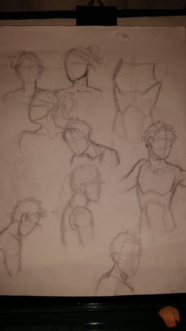 shoulder/neck study by Nescotti