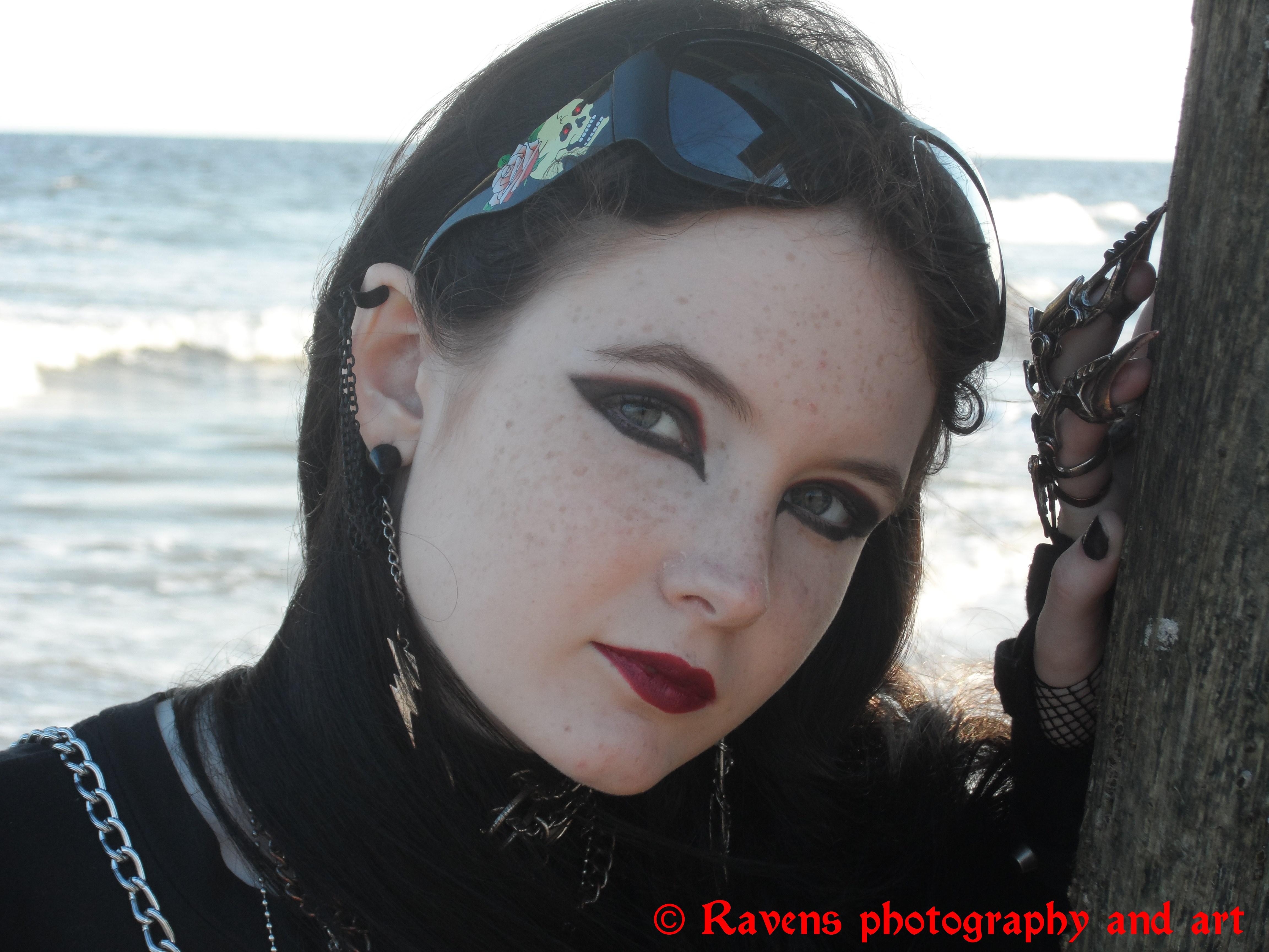Beach headshot 2 by GothicRavenMidnight