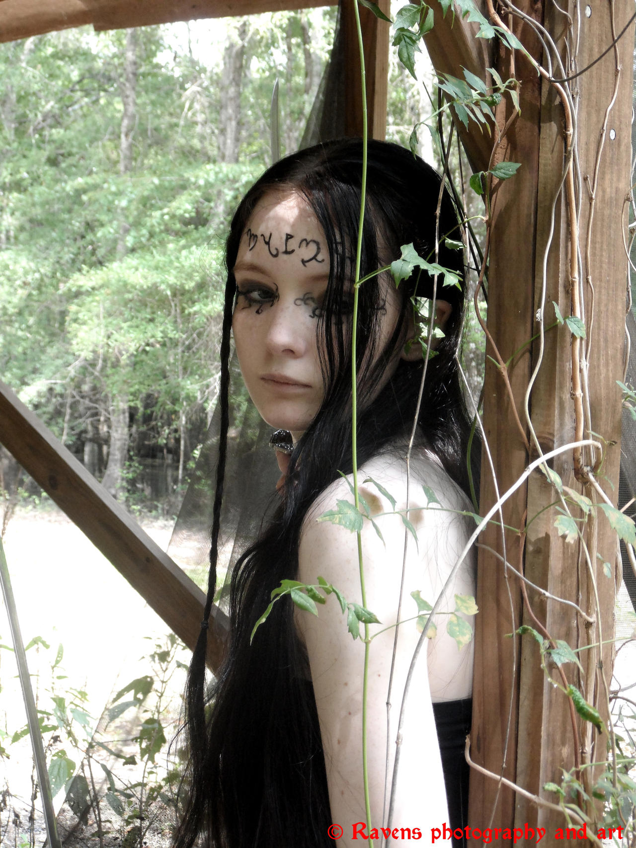 Theban Elf shoot 2, Watching out by GothicRavenMidnight