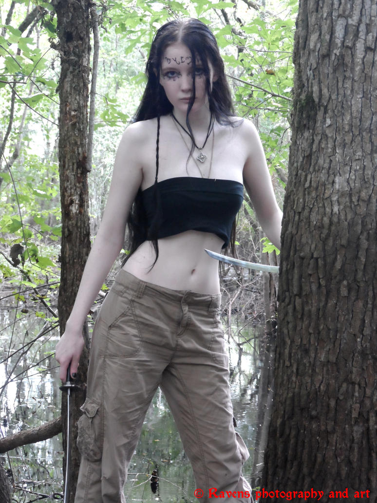 Theban Elf shoot 2, Wanna play? by GothicRavenMidnight