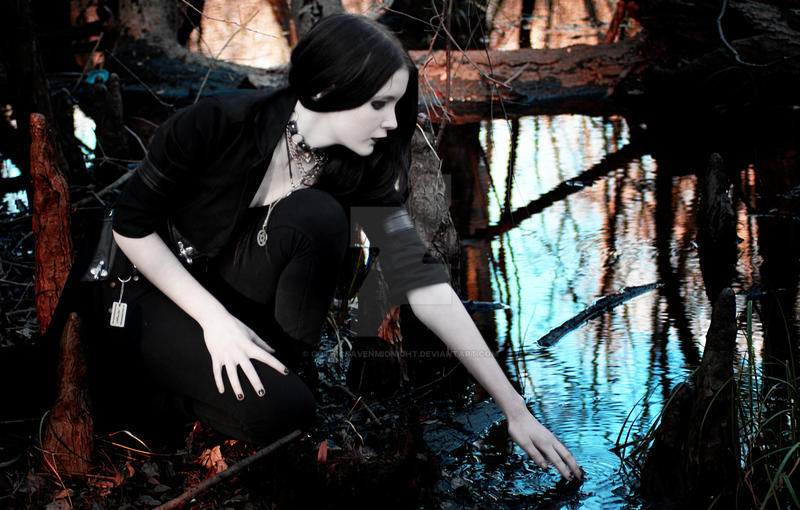 Touching still waters by GothicRavenMidnight