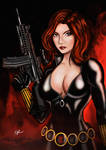 Black Widow (Digital Coloured) by noelchianart76