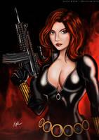 Black Widow Coloured (Digital) by noelchianart76