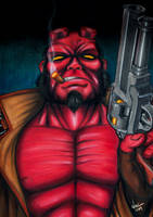 Hellboy by noelchianart76