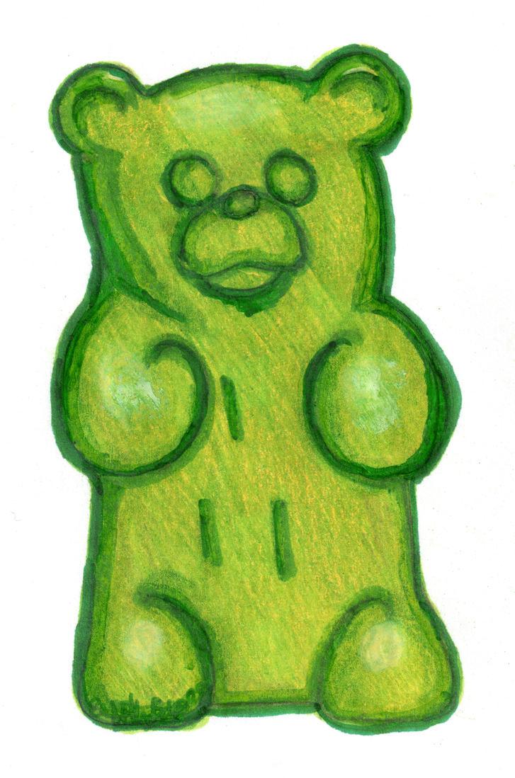 Gummy bear drawing - photo#1