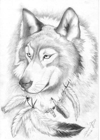 Indian Wolf by CyberSaint70