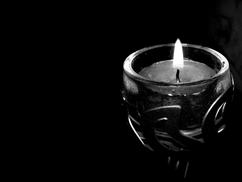Wallpaper Black Candle by paolcia
