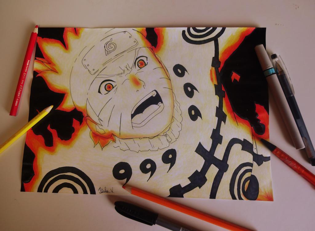 Naruto kyuubi mode by ItaloVinicius