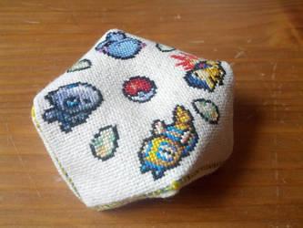 Pokemon Biscornu by CrayolaStitch