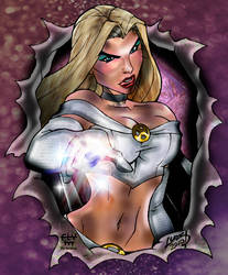 Emma Frost COLOR by henflay