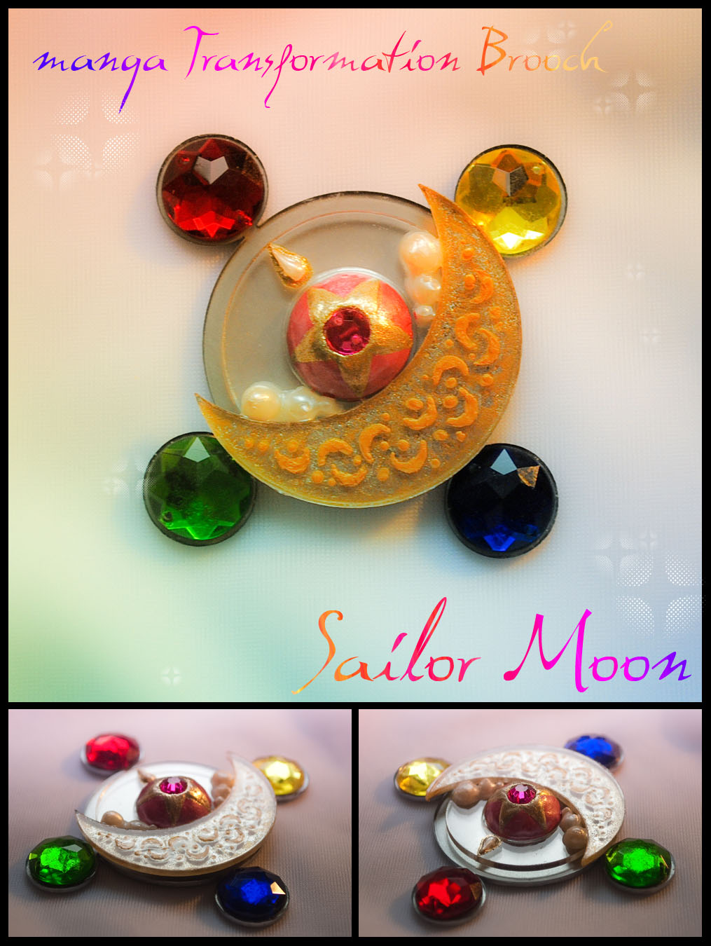 Props: Sailor Moon - manga Transformation Brooch by Hybryda