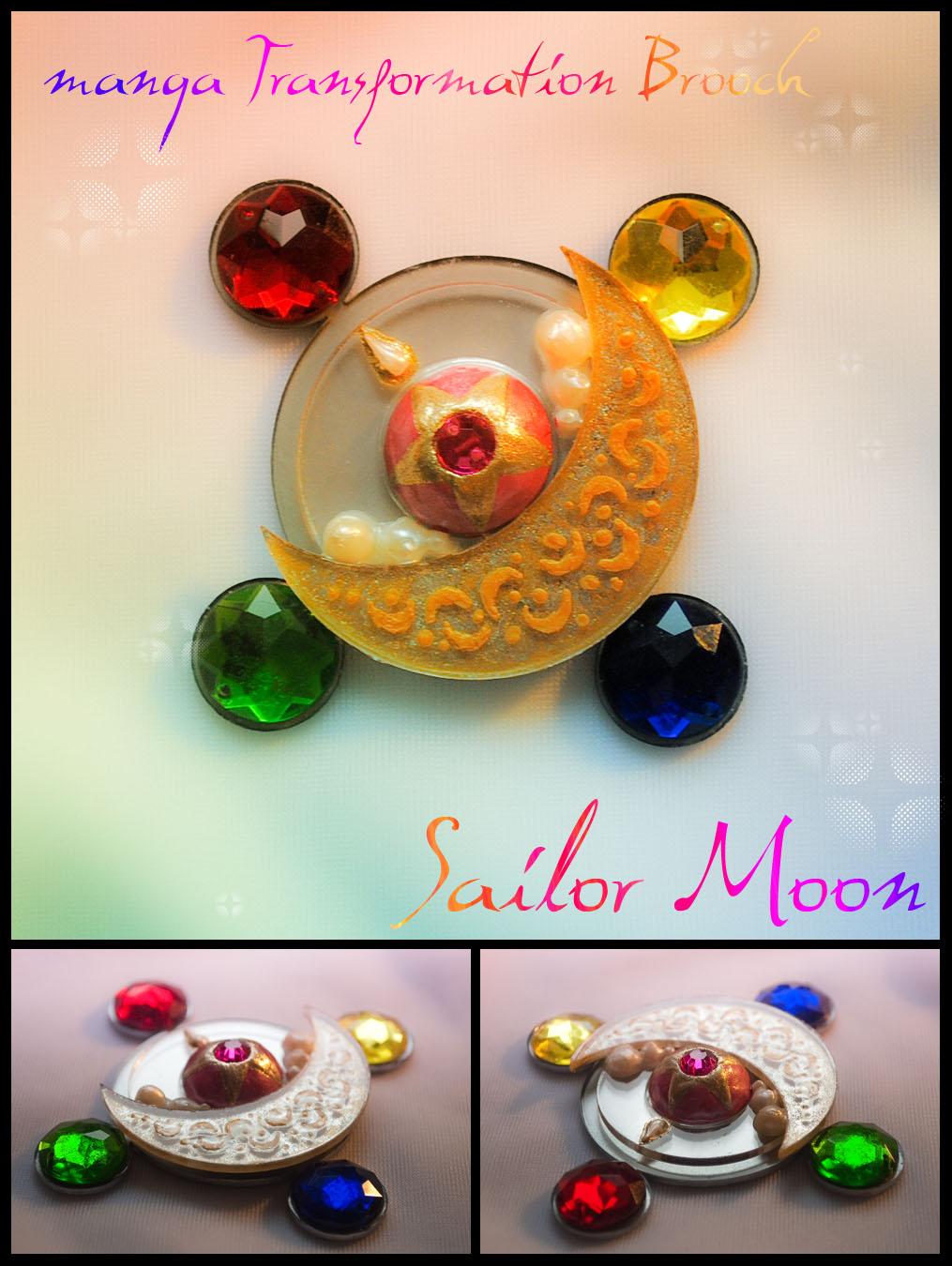 Props: Sailor Moon - manga Transformation Brooch by Hybryda