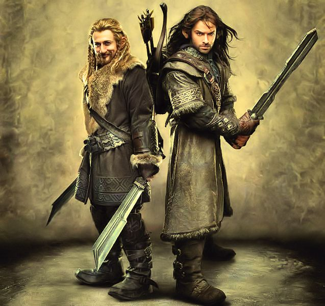 Kili and Fili edited by Naeemyah by OneofakindKnight