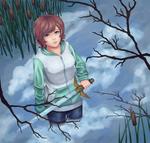 Pondering - Blue Sky, Blue Lake